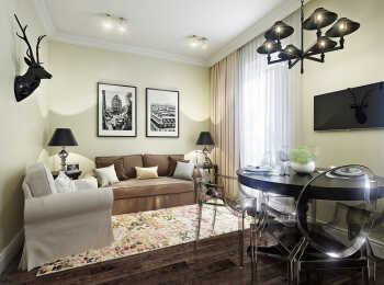 Меблировка гостиной по дизайнерскому проекту